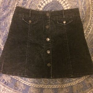 Black urban outfitters corduroy skirt